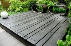 Gardens are shrinking but simple colour schemes and wide decking can enhance the site's feel. Picture: Jim Fogarty.