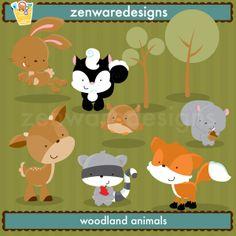 Woodland Animals - Illustrations & Cliparts - Woodland Creatures - MYGRAFICO - DIGITAL ARTS AND CRAFTS STORE