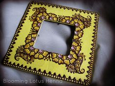Olive Paisley Garden Henna Picture Frame, via Flickr.