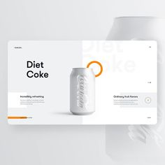 In response to Pepsi this is the Diet Coke concept by Quan Ha Quan Ha For more. Web Layout, Layout Design, Site Design, App Design, Pag Web, Android Design, Ui Design Inspiration, Diet Inspiration, Design Ideas