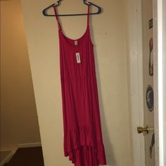 Pink sundress The sundress is new with tags never been worn. It has a hi-lo hemline is very lightweight. Old Navy Dresses High Low