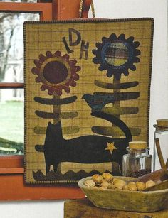 primitive folk art wool decor | Primitive Folk Art Quilt and Wool Applique Book by PrimFolkArtShop, $ ...