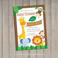 Safari Baby Shower Invitation / Jungle Safari Baby Shower Invitation / Baby  Shower Safari Invitation / Safari Invitation