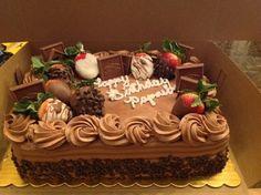 ideas fruit cake ideas birthday dessert recipes for 2019 Birthday Cake For Him, Birthday Desserts, Birthday Cake Decorating, Cake Decorating Tips, Chocolate Birthday Cake Decoration, Strawberry Birthday Cake, Birthday Sheet Cakes, 40th Birthday, Birthday Decorations