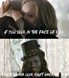If you look in the face of evil, Evil's gonna look right back at you.  #AHS #Coven