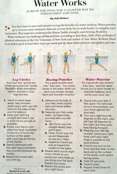 Cardio May Be a Waste of Time Without This Knowledge Water Aerobic Exercises, Swimming Pool Exercises, Pool Workout, Water Workouts, Aerobics Classes, Water Challenge, Water Aerobics, Stay In Shape, Sport