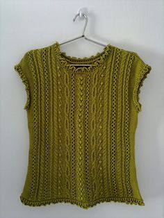Ravelry: p.21 Cabled Tee pattern by Kuniko Hayashi (林 久仁子)