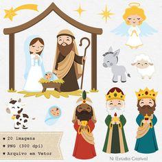 Nativity Clipart, Nativity Crafts, Kids Christmas, Christmas Crafts, Llama Christmas, Christmas Night, Natal Baby, Doodles Bonitos, Church Nursery