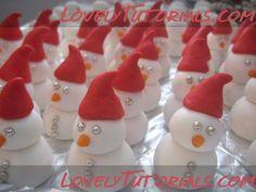 Снеговики-How to make a different Gumpaste (fondant, polymer clay) snowmen - Мастер-классы по украшению тортов Cake Decorating Tutorials (How To's) Tortas Paso a Paso