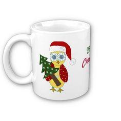 Christmas owl coffee mug...