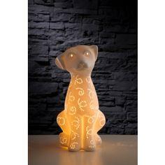 Porselen Köpek Abajur