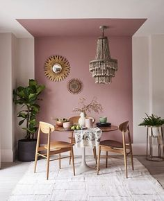 Dining Room Colors, Dining Room Design, Dining Area, Dining Table, Pink Dining Rooms, Small Dining, Design Kitchen, Interior Design Trends, Color Interior