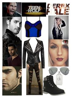 """""""Teen Wolf, Season 2: Derek Hale"""" by the-wanted-potato ❤ liked on Polyvore featuring City Chic, Ray-Ban, Timberland, TeenWolf and plus size clothing"""
