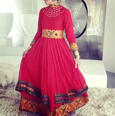 #afghan #style #dress #jewelry #makeup #wedding #hennanight