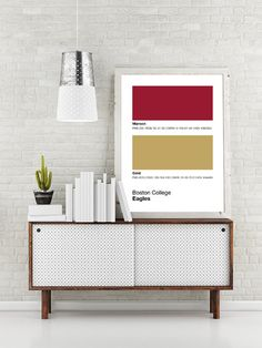 BC Eagles Pantone Poster - Boston College Eagle - Print, Boyfriend Gift, Fathers Day Gift - Maroon And Gold