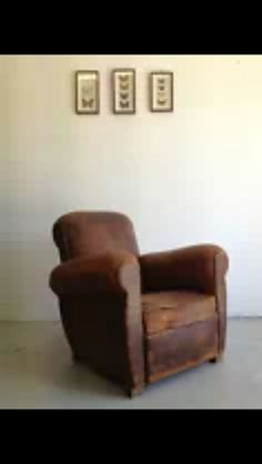 Lovely old club chair. Could look good anywhere in an old house. Even the wood shed could look cosy with this!