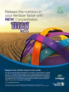 Release the nutrition in dry fertilizer faster with new, concentrated Titan XC