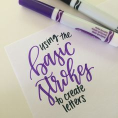 Basic strokes for letter building