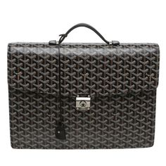Goyard Black Serviette Chypre Briefcase | From a collection of rare vintage luggage and travel bags at https://www.1stdibs.com/fashion/handbags-purses-bags/luggage-travel-bags/