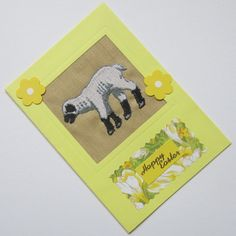 Embroidered Easter Lamb Card £1.75