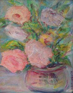 DPW Fine Art Friendly Auctions - Soft Petals by Mary Schiros
