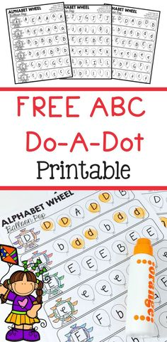 Help your children practice their alphabet with this free do-a-dot bingo marker printable.