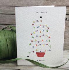 Handgemachte Weihnachtskarte. Urlaub-Grußkarte. von TheLittleCardCo