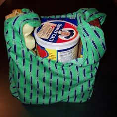 Green Re-usable Grocery Bags