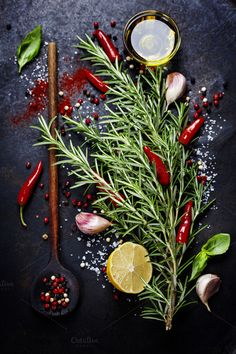 Bunch of spices by klenova on Creative Market