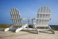 Adirondeck chairs...how about staging a couple of sets on the front porch?