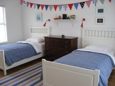 NAUTICAL Bunting/Banner, perfect fabric bunting for boys room in Blue, Red and Navy pennant flags
