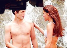 Rob and Kristen behind the scenes Breaking Dawn