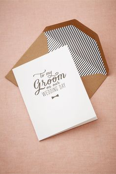 Easy DIY To My Groom Card in Gifts View All Gifts at BHLDN