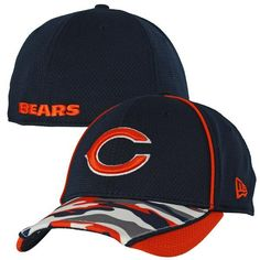 6f72581ed34 Mens New Era Chicago Bears Camstyle 39THIRTY Flex Fit Cap
