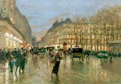 Evening on the Boulevard in Paris