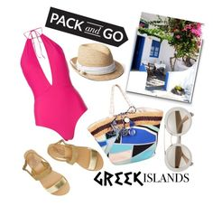 """""""Greek Islands"""" by janicevc on Polyvore featuring Emilio Pucci, Ted Baker, Ancient Greek Sandals, Gap, Packandgo and greekislands"""
