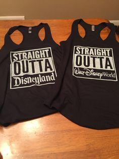 Straight Outta Disney / Disneyland / Disney World Shirt / Unisex Tee / Ladies Tank - Love Shirts - Ideas of Love Shirts - - Straight Outta Disney / Disneyland / Disney World Shirt Disneyland Outfits, Disneyland Trip, Disney Outfits, Disney Vacations, Disney Trips, Disney Clothes, Disney Fashion, Emo Outfits, Punk Fashion