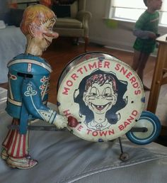 1930S MARX MORTIMER SNERD HOMETOWN BAND TIN WIND UP CHARLIE McCARTHY TOY #Marx