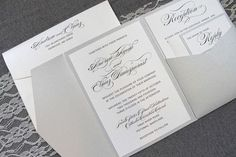 Keep your wedding invitation classic, elegant, modern and drop dead gorgeous. This invitation is perfect for a formal, traditional wedding with just a touch of glam. Want to ramp up the glam factor? Add in a glitter belly band or envelope liner! Silver a Hobby Lobby Wedding Invitations, Traditional Wedding Invitations, Classic Wedding Invitations, Vintage Invitations, Laser Cut Wedding Invitations, Wedding Invitation Wording, Wedding Stationary, Invites, Wedding Planning Inspiration