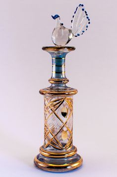 •♥•✿ڿڰۣ(̆̃̃•Aussiegirl #Beautiful #Glass  Egyptian perfume bottle