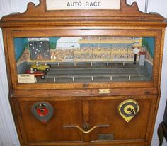 Two person Dunlop Auto Race - spin the wheel to speed the racer.
