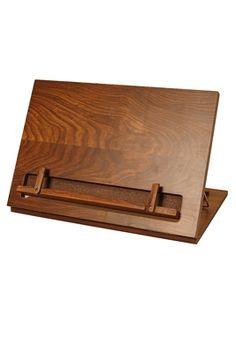Don't settle for anything less than wood. This great table top wooden music stand folds down for easy storage.