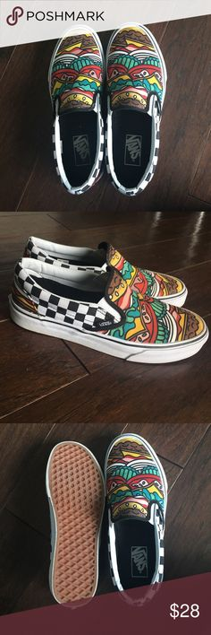 Women's Hamburger Vans Re-posh. Selling for the price I paid for them. In very good condition. Vans Shoes