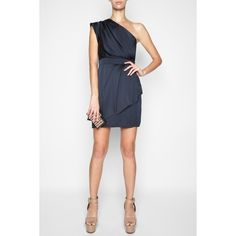 Bcbgeneration Pleated One-Shoulder Dress - Polyvore