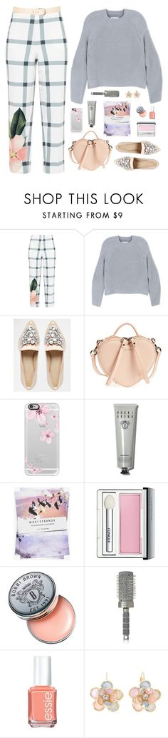 """""""Untitled #1398"""" by timeak ❤ liked on Polyvore featuring Ted Baker, Maison Margiela, ASOS, Marc Jacobs, Casetify, Bobbi Brown Cosmetics, Nikki Strange, Clinique, T3 and Essie"""