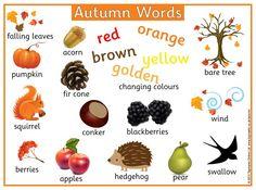 Autumn Words Printable Mat