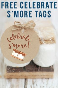 Be ready for S'more Celebrations with these darling printable party circles from Everyday Party Magazine #PartyTags #Smores #Summer
