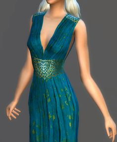 """magnolianfarewell: """" Game Of Thrones Collection [Part """" Daenerys Targaryen Game Of Thrones Dress, Sims 4 Controls, Sims 4 Traits, Sims Medieval, Got Costumes, Sims 4 Dresses, Sims 4 Mm, Sims Mods, Sims 4 Custom Content"""