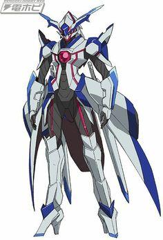 Regalia: The Three Sacred Stars : Hot Yuri Action. and Giant Knight Robots Fantasy Character Design, Character Design Inspiration, Character Art, Arte Gundam, Gundam Art, Robot Concept Art, Armor Concept, Anime Mech, Armadura Ninja
