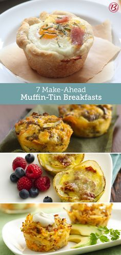 Each of these seven recipes are made simple—and portable—thanks to breakfast's secret weapon: the muffin tin!